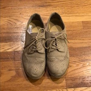 Oxford suede dress shoes